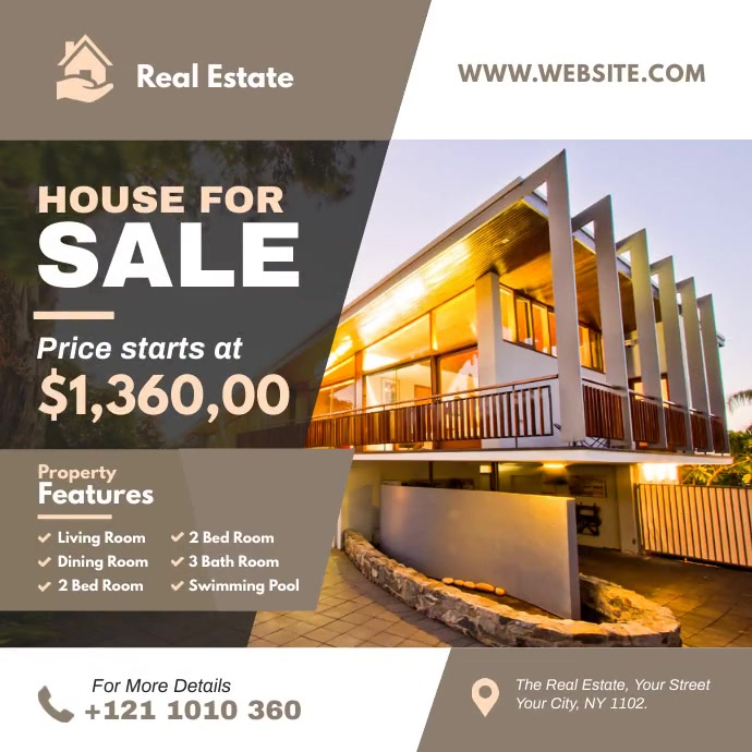 Real Estate Ad Template Instagram Post