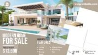 Real Estate Ads Vídeo de capa do Facebook (16:9) template