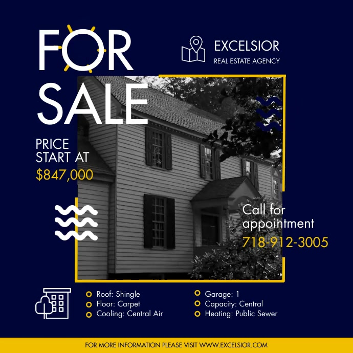 Real Estate Advert Online Square (1:1) template
