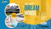 Real Estate Agency Ads Facebook-omslagvideo (16: 9) template