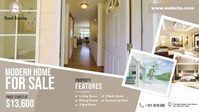 Real Estate Agency Ads Facebook Cover Video (16:9) template
