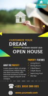 Real Estate Agency Ads Rul-op banner 3' × 6' template