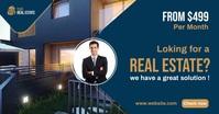 Real Estate Agency Ads รูปภาพที่แบ่งปันบน Facebook template