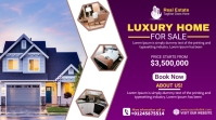 Real Estate Agency Ads Twitch Banner template