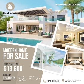 Real Estate Agency Ads Instagram Post template