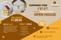 Real Estate Agency banner Transparent 4 stopy × 6 stóp template