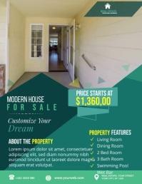Real Estate Agency Flyer Folder (US Letter) template