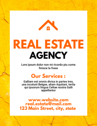 Real estate agency flyer design template