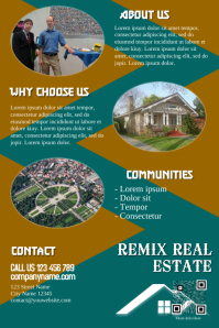 Vintage print template for the real estate marketing