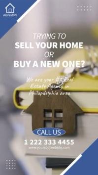 Real Estate Agency Video Ad Insta Pantalla Digital (9:16) template