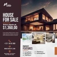 Real Estate Agent Ad โพสต์บน Instagram template