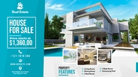 Real Estate Agent Ad Pos Twitter template