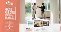 Real Estate Agent Ad auf Facebook geteiltes Bild template