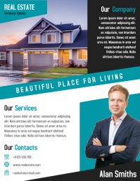 Real Estate Agent Business Flyer Design Template