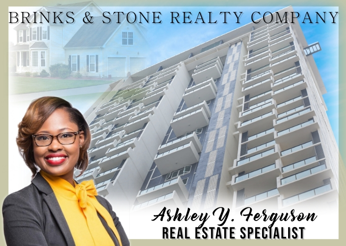 Real Estate Agent Kartu Pos template
