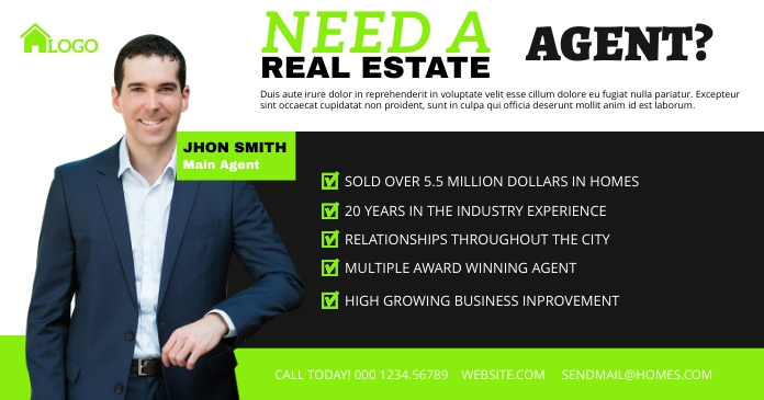 Real Estate Agent Facebook Share Image template