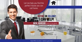 Real Estate Agent Flyer Gambar Bersama Facebook template
