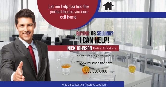 Real Estate Agent Flyer Gambar Bersama Facebook template