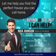 Real Estate Agent Flyer Kwadrat (1:1) template