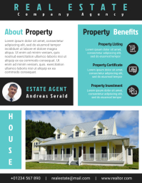 Real Estate Agent Flyer Template Design File