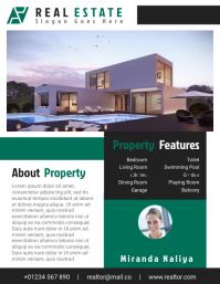 Real Estate Agent Flyer Templates Design File