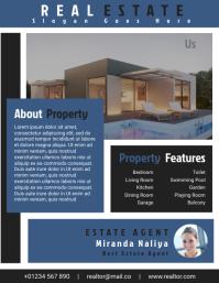 Real Estate Agent Flyer Templates Design File Pamflet (VSA Brief)