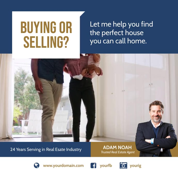 Real Estate Agent Instagram Ad Template Wpis na Instagrama