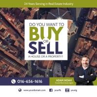Real Estate Agent Instagram Ad Template Instagram-bericht