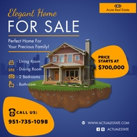 Real Estate Agent Open House Advert Square (1:1) template