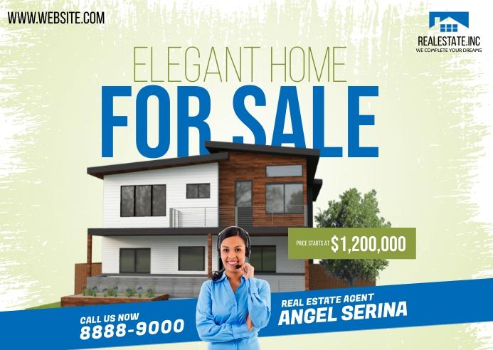 Real Estate Agent Postcard 明信片 template