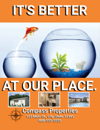 Real Estate Apartment For Lease/Rent Pamflet (VSA Brief) template