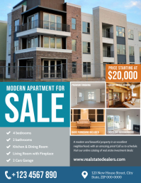 Real Estate Apartment for sale flyer template