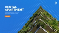 Real Estate Apartment Poster Facebook Cover Video (16:9) template