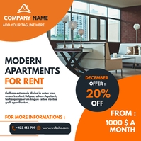 real estate apartments for rent advertisement Wpis na Instagrama template