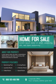 Real Estate Banner design Баннер 4' × 6' template