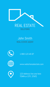 Real Estate Blue design, Business Card Wizytówka template