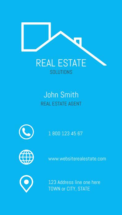 Real Estate Blue design, Business Card