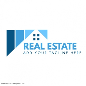 Real Estate blue shades logo