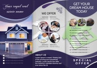 real estate brochure A4 template