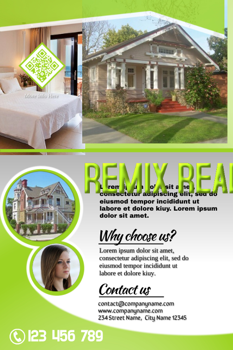 Green real estate brochure