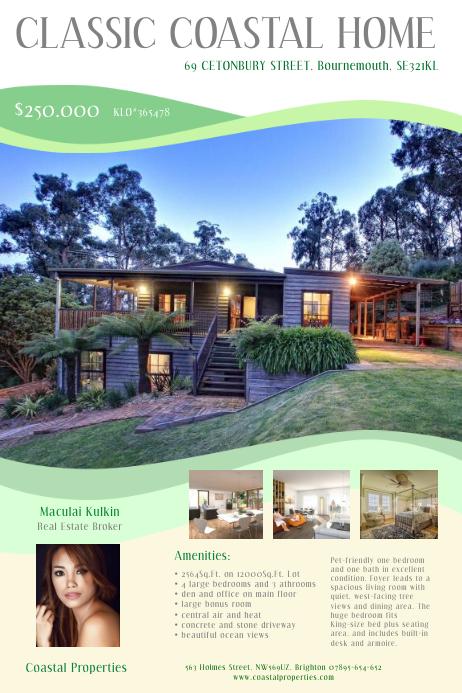 Real Estate Brooker Flyer Poster template