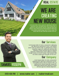 Real Estate Business Agent Flyer and Poster Template