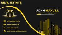 Real estate business card Kartu Bisnis template