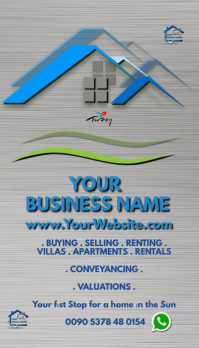 real estate Business card Визитная карточка template