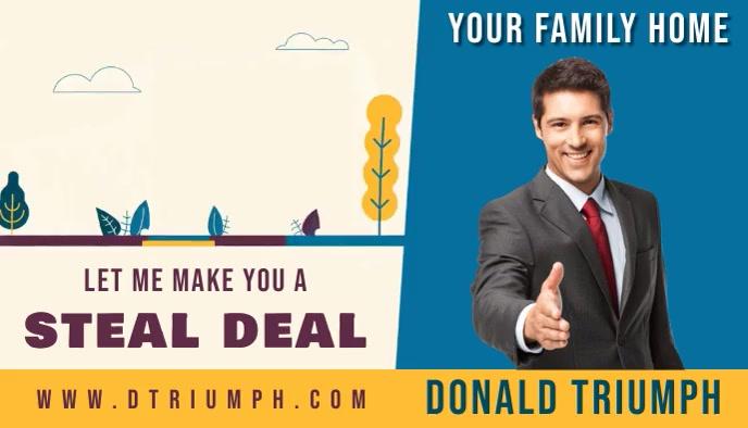 real estate business card online social media template
