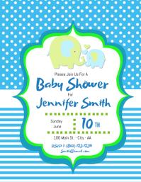 Cute Elephant Baby Shower