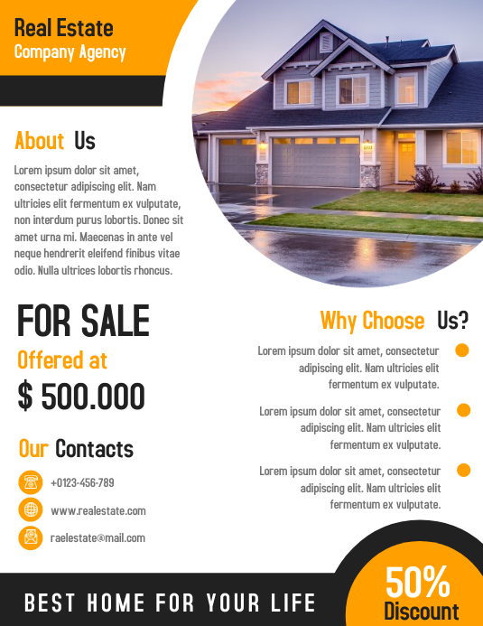 Real Estate Business Corporate Flyer Template Design