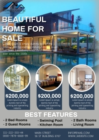 Real estate business A4 template