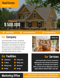 Real estate business flyer and brochure design template