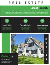 Real Estate Business Flyer Design Template